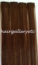 """18"""" Clip-in 100% Human Hair Extensions for Highlights / Streaks-4pcs Silky Soft"""