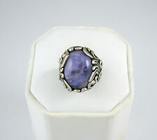Carolyn Pollack Sterling Silver Purple Charoite Ring Size 8