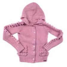 JOHN GALLIANO Designer Girls 10/12y DUSTY PINK CHUNKY KNIT HOODED CARDIGAN ~ NWT