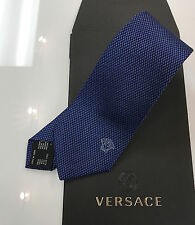 Versace 100% silk tie in Royal Blue new with box