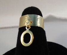 14KT GOLD EP HAMMERED DANGLE INITIAL O TOE RING