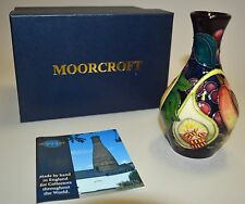 "MOORCROFT POTTERY 1st Quality,""QUEENS CHOICE"" VASE, BOSSONS, 372/5, NEW, W/BOX"