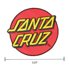 "Santa Cruz Logo Classic Dot Stick On Patch Skateboard 3.25"" Screaming Hand"