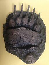 Grizzly Bear Paw Print Cast Life-size of 5 year old Grizzly, 10""