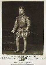 François CLOUET le jeune Roi Henri Quatre IV Gravure TARDIEU  Ed Couché 1786