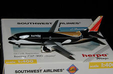 "Herpa Wings 1/400 b737-300 Southwest shamu"" ""n334sw"