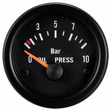 100% Made in Taiwan 52mm Black Face Black Rim Oil Pressure Gauge