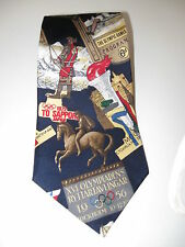 Perry Ellis Olympic Games Collection Atlanta 1996 Blue Red White Neck Tie NWOT