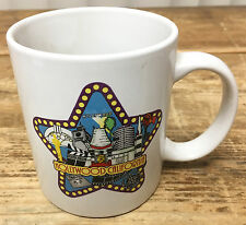 Coffee Mug Star White Cup Hollywood California Famous Place Stars Blue Landmarks