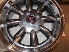 FIAT 124 SPIDER, X1/9, MONZA WHEELS, GUNMETAL, SET OF 4,  15X6.5