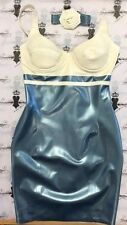 "Rubber Latex BRA TOP DRESS/COLLAR SET Westward Bound *Shown* 34""/8 UK MODELLED"