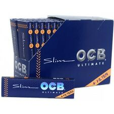 Full Box (32) OCB Ultimate King Size Slim Rolling Paper With Filter Tips