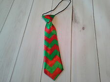 boys girls infant toddler child necktie chevron red green christmas wedding