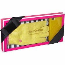JUICY COUTURE YELLOW TEXTING GLOVE & IPHONE 4S CASE GELLI GIFT SET ORG $78  BNWT