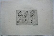 Willi Geiger (1878-1971) 3 toreros corrida estudio ORIG aguafuerte firmados 1912