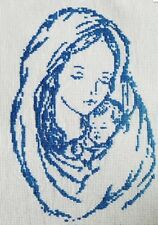Saint Mary Mother of Jesus Christ - Hand Made Finished Cross Stitch Needlework