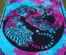 Dragon Tiger Tapestry Yin Yang Wall Hanging Tapestries Twin Bedspread Decor Art