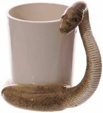 Brown Snake Shaped Handle Mug