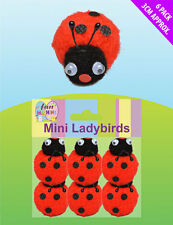Mini Ladybirds (Pack of 6) Easter Party Accessories