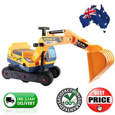 Ride On Car Kids Digger Pretend Play Excavator Power Construction Toy Sandpit