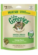 FELINE GREENIES Dental Cat Treats Catnip Flavor New