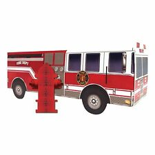 """13.5"""" Fire watch Red Fire Truck Birthday Party Table Centerpiece Decoration"""