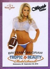 2010 BENCHWARMER TROPIC & BEAUTY PROMO BRITTANY MCGRAW AT WAYSIDE WEST CARD #20