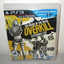 HOUSE OF THE DEAD Overkill Extended SEALED NEW PlayStation 3 on-rails Shooter
