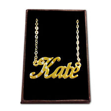 Gold Plated Name Necklace - KATE - Gift Ideas For Her - Stylish Birthday Custom