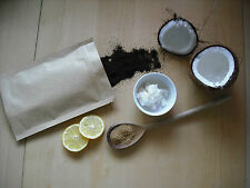 Organic all natural coffee and coconut oil body scrub 120 grams,NEW