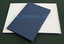 1 NEW A6 148 x 105mm QUALITY HARDBACK CASEBOUND A-Z INDEXED INDEX BOOK 192 PAGES