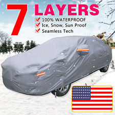 7Layer Car Cover Outdoor PEVA Cotton Snow UV Rain Dust Dirt Waterproof Resist YM