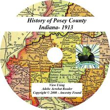 1913 History & Genealogy of POSEY County Indiana IN
