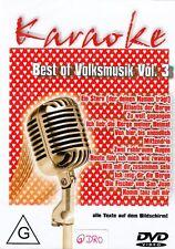 KARAOKE + DVD + Best of Volksmusik (3) + Texte auf Bildschirm + Partyspaß +