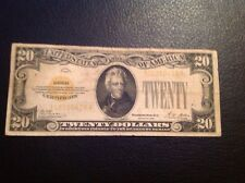 1928 $20 Gold Certificate Ungraded