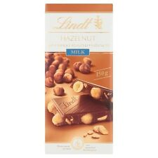 10 x Lindt HAZELNUT With Whole Roasted Hazelnut Milk Chocolate Bar 150g
