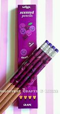 POPULAR! SMIGGLE SCENTED PENCILS - GRAPE SCENT, 4 PENCILS
