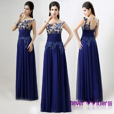 US Women Sequin Long Formal Bridesmaid Prom Gown Evening Party Chiffon Dresses 2