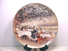 "PICARD CHINA ART PLATE CARLO PITTARA ON THE BANKS OF THE SEINE USA 11.5"" WIDE"