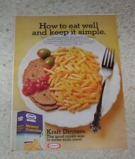 1977 ad page - Kraft Foods Macaroni & Cheese -eat well and keep it simple- AD