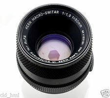Kern Macro Switar 50 mm C f/1.9 Lens ALPA M42 Mount Excellent+++ Condition