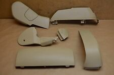 07-09 W221 MERCEDES S550 S600 FRONT RIGHT PASS SEAT PLASTIC SET OF 5 TRIM TAN