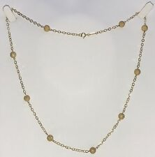 "14K Yellow Gold Diamond Cut Bead Ball Necklace 18"" Chain 2.4 Grams"