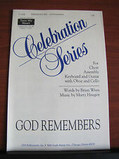 God Remembers - 2004 sheet music- vocal piano guitar oboe cello