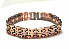 MENS 8.75 INCH HEALING MAGNETIC THERAPY LINK BRACELET: Copper with Copper Chain