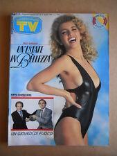 TV Sorrisi e Canzoni n°32 1989 Milly Carlucci Bongiorno Baudo [G585]