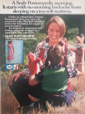 1973 Sealy Posturepedic Bed Mattress Little Girl Puppets Color Original Ad