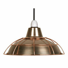 Copper Lamp Shade Vintage Retro Non Electric Pendant- FREE NEXT DAY POST