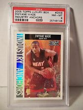 2005 Topps Luxury Box Dwayne Wade PSA NM-MT 8 Basketball #DW8 Industry Anchors