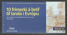 ICELAND SG820 1994 EUROPA 35c x10 BOOKLET MNH